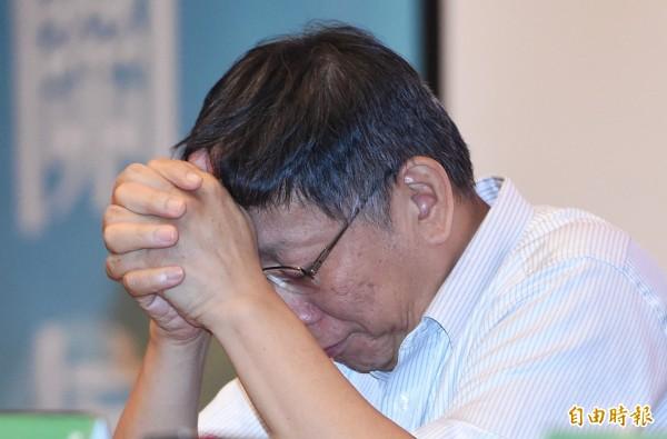 台北市長柯文哲上午參加中正區行動市政會議時重申,如果照標準作業流程,不管警察局或文化局都沒有什麼問題。(資料照,記者廖振輝攝)