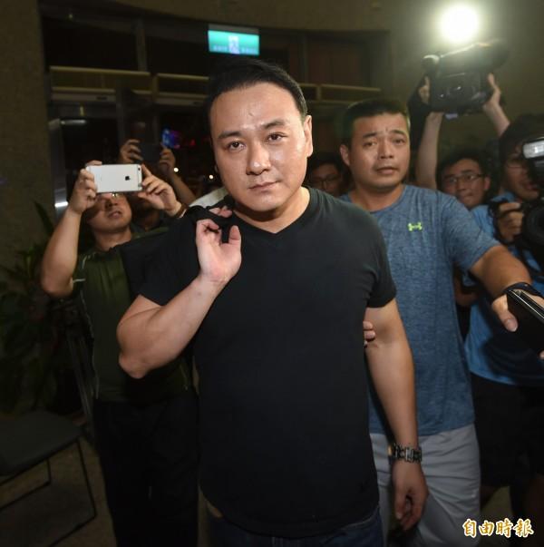 針對台大鬥毆事件,統促黨主席張安樂的兒子張瑋25日晚上到大安分局說明。(資料照,記者方賓照攝)