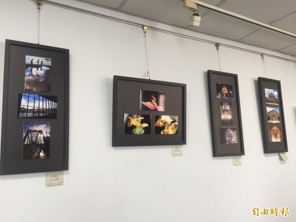 屏東長青學苑攝影班「心視界」攝影展,現正於屏東縣老人文康中心2樓展出。(記者羅欣貞攝)