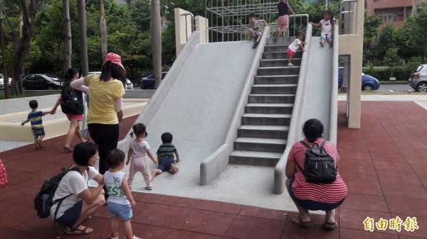 新竹市幼兒比例高。(記者洪美秀攝)