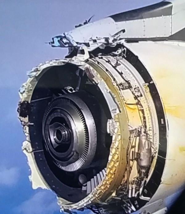 A380客機引擎。(圖取自鏡報)