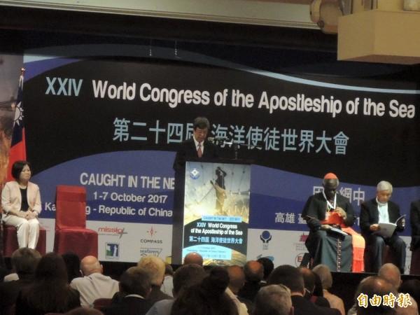 副總統陳建仁強調,台灣會與教廷一起在漁民議題上密切合作。(記者王榮祥攝)