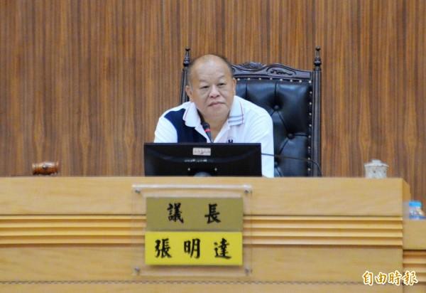 嘉義縣議長張明達鬆口表示將參選下屆縣長 。(記者蔡宗勳攝)