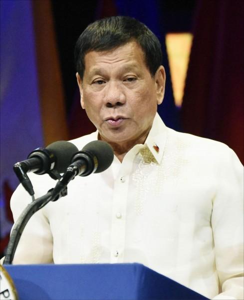 菲律賓總統杜特蒂。(中央社資料照)