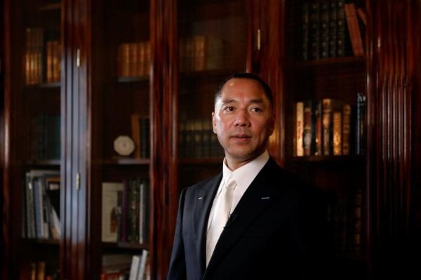 屢在網路爆料中共貪腐醜聞、逃亡美國的中國富豪郭文貴,其臉書近日被2度封鎖。(路透)