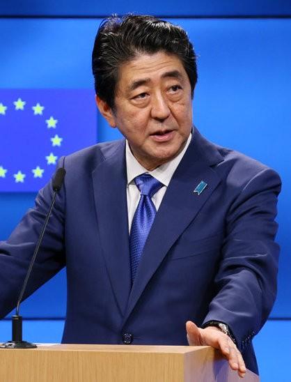 拉斯維加斯槍擊案發生後,日本首相安倍晉三今將致電美國總統川普進行電話會談。(圖片擷取自維基百科)