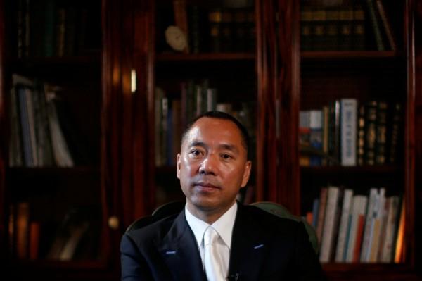 屢在網路爆料中共貪腐醜聞、逃亡美國的中國富豪郭文貴,原本預定4日出席華府智庫舉行的「對話郭文貴」活動,主辦方卻在前一天宣布臨時取消,並無表明取消原因。(路透資料照)