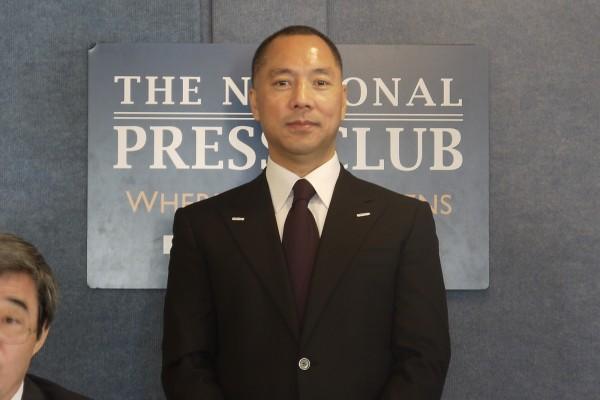 郭文貴在美國舉行記者會,大爆中國高官貪腐的料,中共方面也大為頭痛。(中央社)