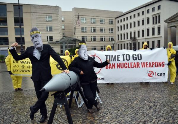 在目前擁有核武的國家中,美國和俄羅斯就掌握全球約90%的核武,剩下的都在包括北韓在內的7國手中。(法新社)