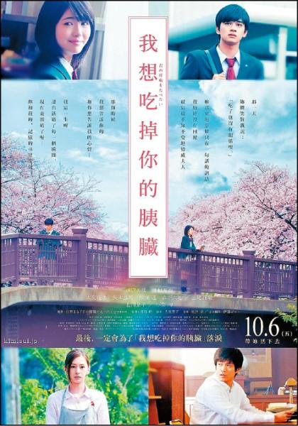 《我想吃掉你的胰臟》電影資訊,上映時間:10/6,導演:月川翔,演員濱邊美波、北村匠海。(圖片提供/車庫娛樂)