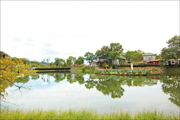 位於大加汗部落的碧赫潭屬於高山潭,寧靜的氛圍被形容是「萬榮秘境」。(記者陳怡君/攝影)