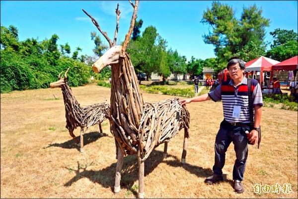 清水地景藝術節昨天登場,圖為作品「逐鹿清水」。(記者歐素美攝)