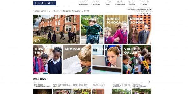 英國私立貴族學校海格特公學(Highgate School),為了配合英國教育圈近年推廣的校園性別友善措施,在學校設立新的性別中立廁所,卻遭家長反映讓他們的小孩「更不開心」。(圖片擷取自海格特公學官網首頁)