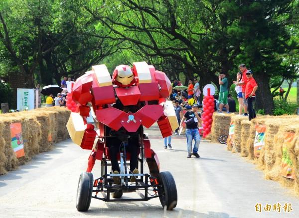 西拉雅趣飛車活動將在走馬瀨舉行,園方祭出限時免費入場的優惠。(資料照,記者吳俊鋒攝)