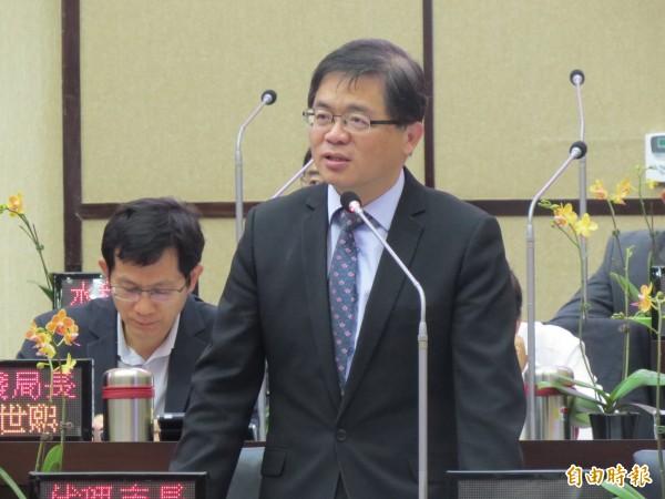 南市代理市長李孟諺表示,南大對不起台南市民,應向市民道歉。(記者蔡文居攝)