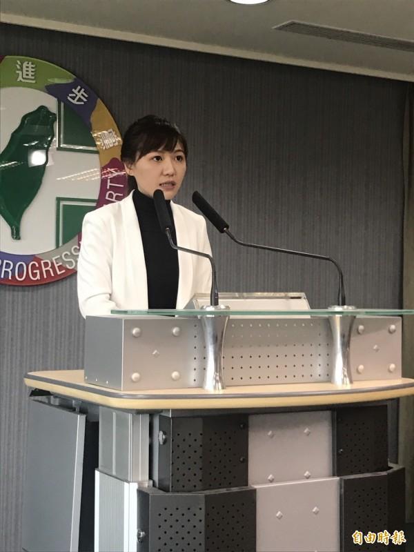 民進黨發言人吳沛憶表示,立院總質詢結束後,行政院長賴清德將會進行全台下鄉行程。(記者蘇芳禾攝)