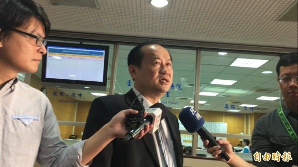 林知延的辯護律師許惠峰,判後表示感謝法院釐清事實,做出正確判決。(記者張文川攝)