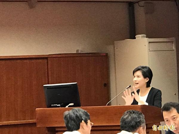 文化部長鄭麗君今出席立院教委會報告。(記者彭琬馨攝)