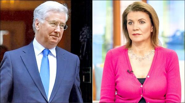 法隆(左)因性騷擾事件辭職,他遭女記者布魯爾(右)指控,在二○○二年的一場晚宴中,曾將手放在她的膝蓋上。(取自網路)