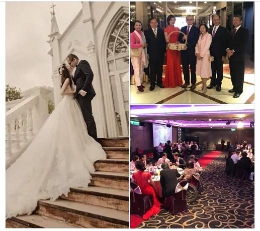 「水牛伯」游錫堃稍早在臉書公布次子結婚的喜訊。(截圖自游錫堃臉書)