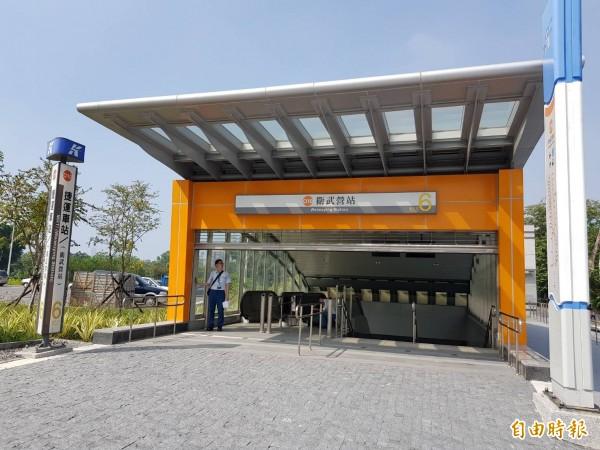 衛武營捷運站6號出入口今啟用。 (記者陳文嬋攝)