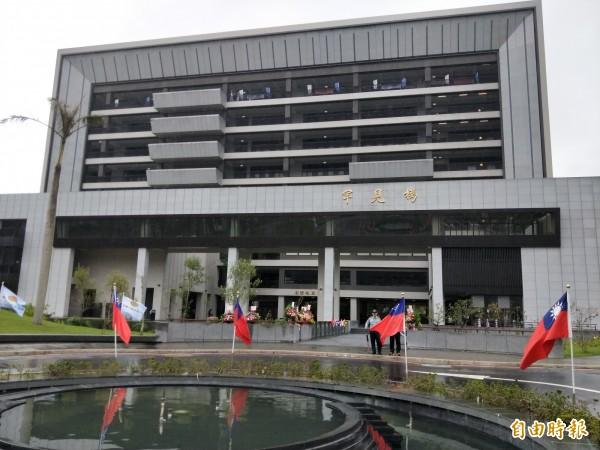 宏國德霖科技大學罕見樓揭牌啟用,是一棟重視自然的綠建築。 (記者何玉華攝)