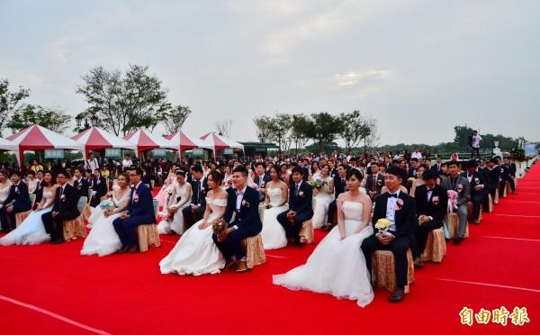 奇美博物館景致優美,市政府已連續第3年在此舉辦聯合婚禮。(記者吳俊鋒攝)