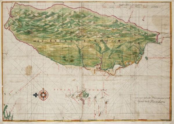 台灣幾百年以來,即以「美麗島」著稱。她四面環海,得氣候山川之賜,林木蒼鬱,物產豐富,十六世紀從海上路過的歐洲水手為之驚豔,而有「美麗之島!」(Ilha Formosa!)的讚嘆。(資料照,圖片來源:http://www.atlasofmutualheritage.nl)