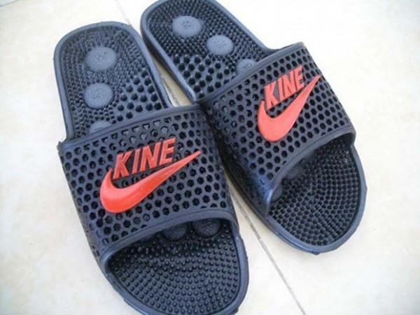 NIKE被中國業者山寨為KINE。(圖擷取自GO SOCIAL)