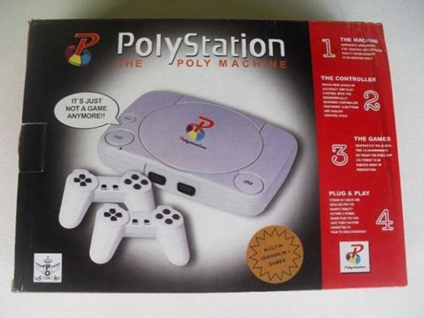 山寨版的PS電視遊樂器。(圖擷取自GO SOCIAL)