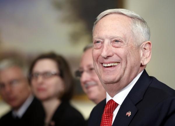 美國國防部長馬提斯表示,只要IS想打美軍就會繼續作戰,直到IS全滅。(資料圖,美聯社)