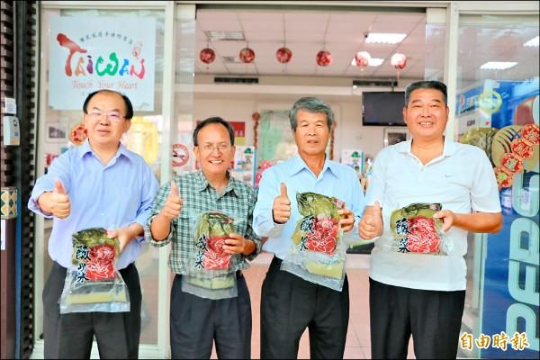 南庄鄉農會生產客家酸菜,價格維持在一台斤50元左右。(記者鄭名翔攝)