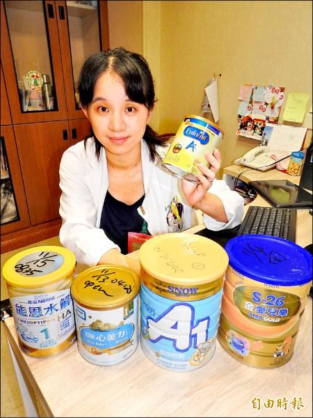 小兒科醫師徐美欣建議,媽媽若無法哺育嬰兒母奶時,還是要餵食專屬嬰幼兒的配方奶。 (記者方志賢攝)