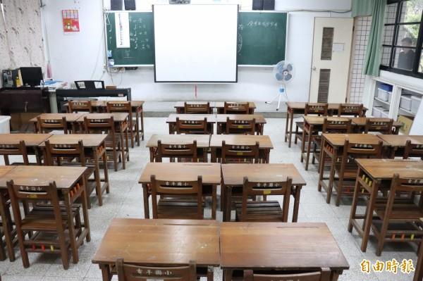 受到少子化的影響,宜蘭縣國中小的學生數日益減少,空教室也越來越多,怎麼利用成了課題。(記者林敬倫攝)