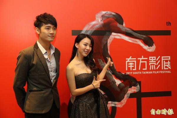 「2017南方影展」大使王宣(右)、詹博翔(左)。(記者洪瑞琴攝)。