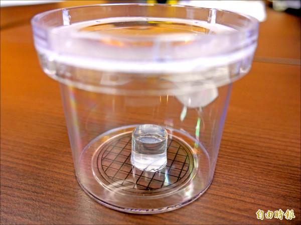 台灣研究團隊結合3D列印組織工程技術,成功分化出視網膜神經節細胞。(記者林惠琴攝)
