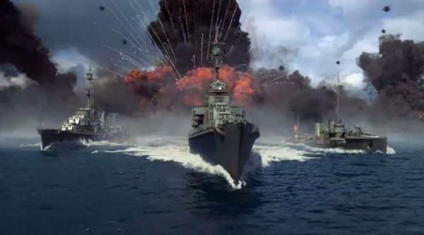 在戰艦世界可體驗激烈的海戰。(圖擷自《Steam》)