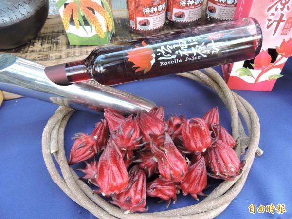 台東洛神品質佳,日本和果子業者持續訂購。 (記者張存薇攝)