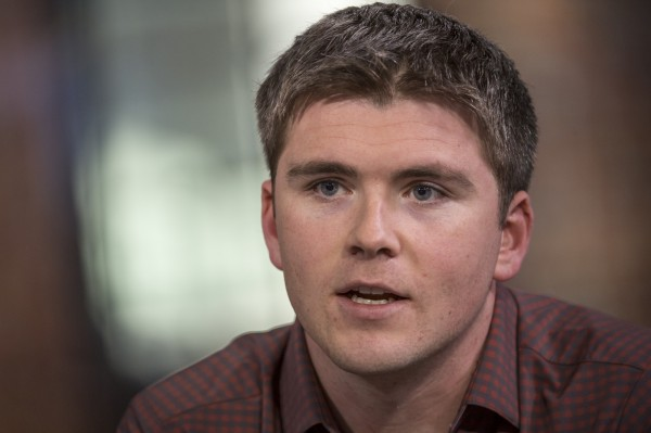 27歲的約翰柯里森(John Collison),和哥哥一起創立軟體業務公司Stripe,他個人身價估達11億美元(約新台幣330億元)。(彭博)