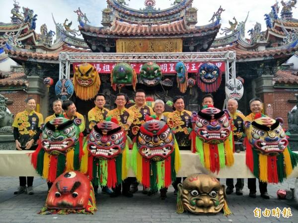 樂成宮將於12月2日舉辦「百年媽祖樂成宮、明星、獅王會十甲」的舞獅活動,重現昔日宗教民俗盛況。(記者張瑞楨攝)