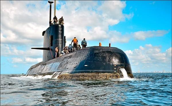 阿根廷潛艦「聖胡安號」(San Juan)15日於南大西洋失蹤。(美聯社)
