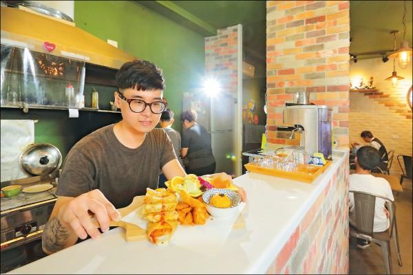 土佐TO DRAW老闆韓凱叡離開家鄉創業,堅持以嚴選和手作精神展現健康與美味兼具的餐點(記者李惠洲/攝影)