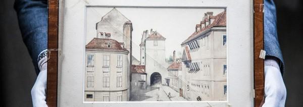 荷蘭戰爭文獻研究所經過多月鑑定和分析,證實這幅水彩畫為希特勒的真跡,是荷蘭境內目前發現唯一的希特勒畫作。(圖擷自《民眾報》(de Volkskrant))
