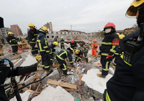 中國浙江寧波大爆炸,官方稱2死30傷。(法新社)