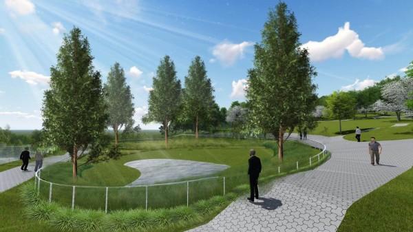 新竹市政府規劃首座樹葬園區,佔地1.1公頃,將提供4000個穴位,預計明年動工,後年啟用。(示意圖,新竹市府提供)