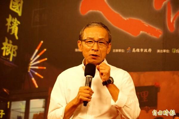 吳念真南下高雄,啟動綠光台灣野台戲劇工程。(記者黃佳琳攝)