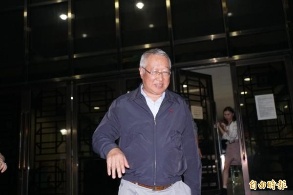 中影董事長郭台強,今天到台北地檢署作證。(記者錢利忠攝)