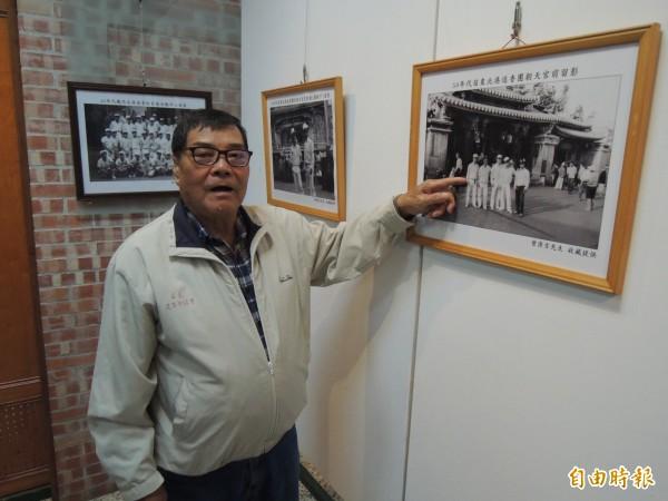 73歲的曾清吉,連8年騎鐵馬到北港進香,經驗豐富。(記者張勳騰攝)