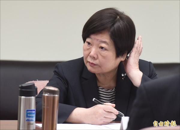 勞動部長林美珠。(記者劉信德攝)