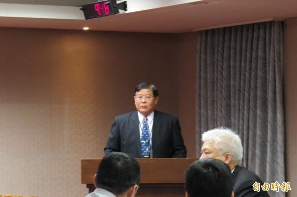 中科院副院長馬萬鈞列席立法院會議。(資料照,記者陳鈺馥攝)